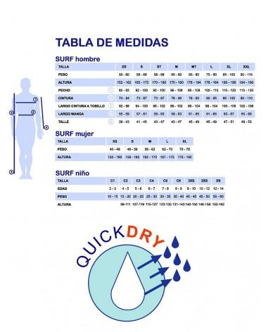 Neopreno SELAND wetsuit BALTIC QUICK DRY 5/4/3mm - Negro & Azul