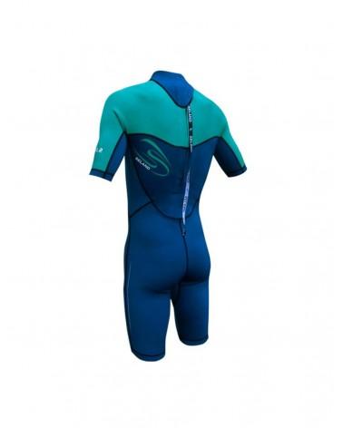 Neopreno SELAND wetsuit LA FRANCA corto 2.5 mm - Azul