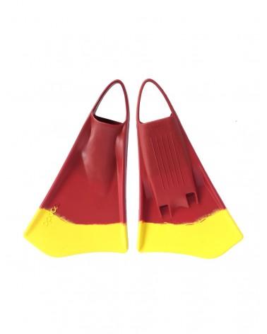 Aletas OPTION 2 - Rojo & Amarillo