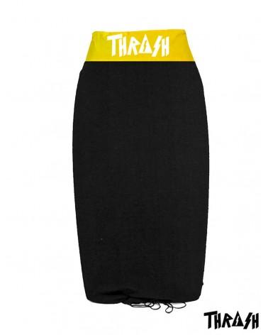 Funda THRASH bodyboard toalla / calcetin - Negro & Amarillo