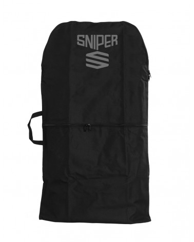 Funda bodyboard SNIPER single NYLON - Negro & Gris