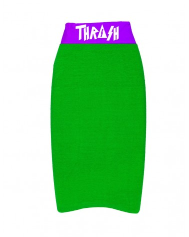 Funda THRASH bodyboard toalla / calcetin - Verde & Morada