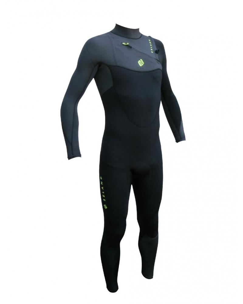Neopreno SELAND wetsuit EGEO 5/4/3mm - Azul & Plata