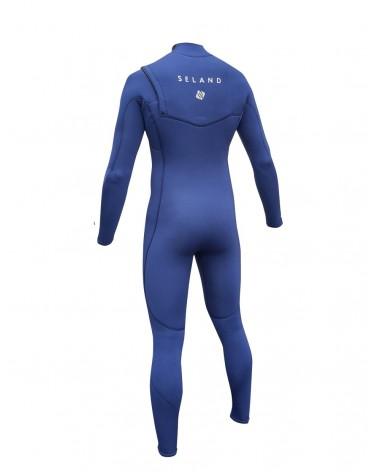 Neopreno SELAND wetsuit NOJA 4/3mm - Naranja & Azul