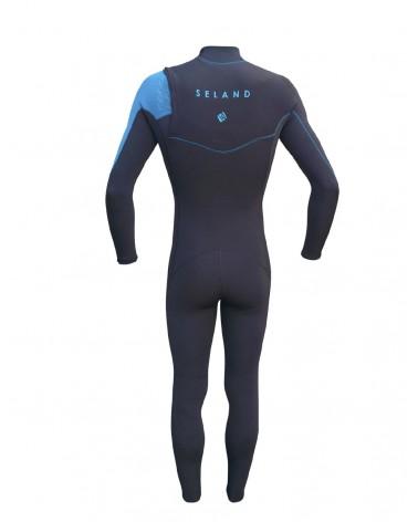 Neopreno SELAND wetsuit  FOZ 3/2mm - Granate & Gris