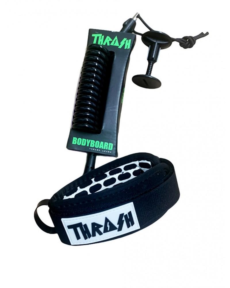Invento THRASH V2 biceps Ergo Leash - Negro & Blanco