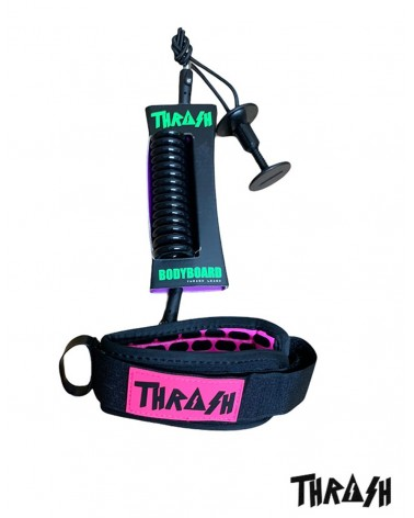 Invento THRASH V2 biceps Ergo Leash - Negro & Rosa