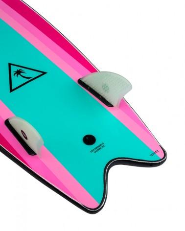 "Tabla softboard CATCH SURF 5´6"" Heritage Retro Fish - Twin Fin - Negra"