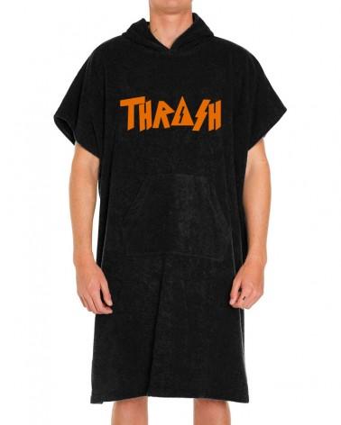 Poncho toalla THRASH Algodón - Negro & Naranja